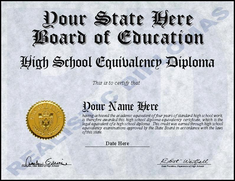 Printable High School Diploma Beautiful Ged Certificate Template Download