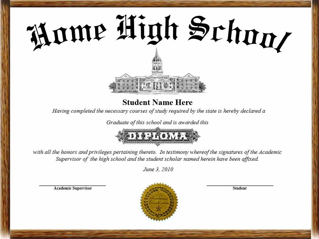 Printable High School Diploma Beautiful Home School Diplomas