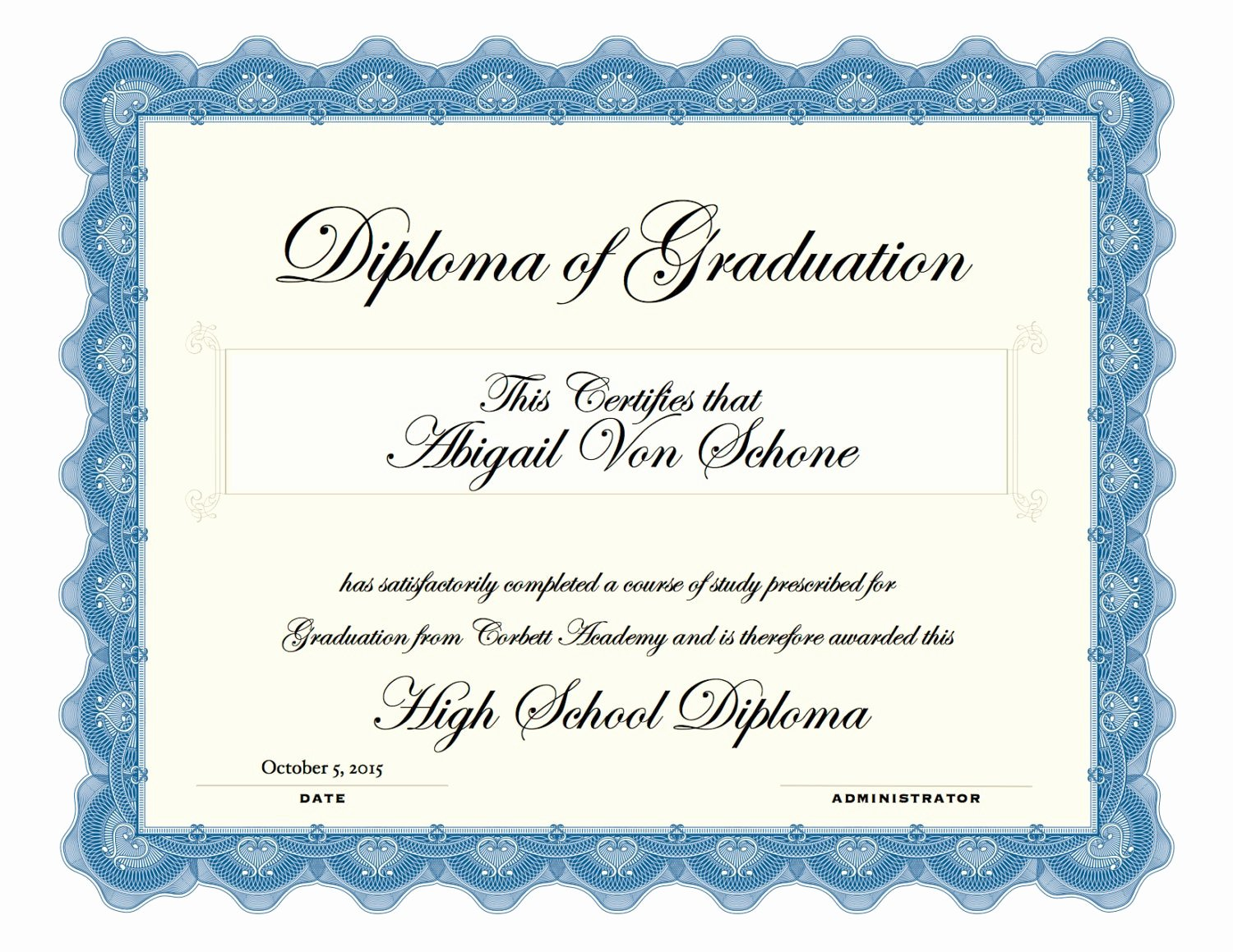 Printable High School Diploma Inspirational Printable High School Diploma Color by Daisygirlsfavorites