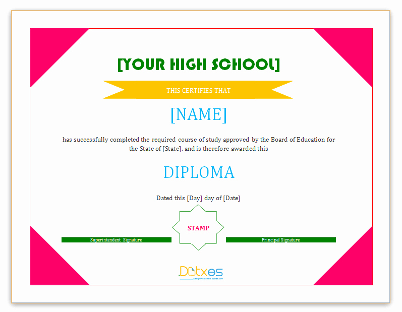 Printable High School Diploma Lovely 60 Free High School Diploma Template Printable