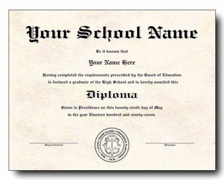 Printable High School Diploma Lovely High School Diploma Template Printable Certificate