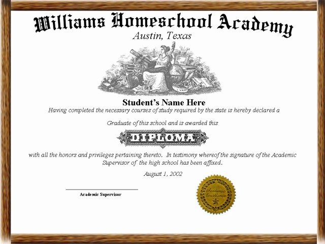 Printable High School Diploma Lovely Home School Diplomas