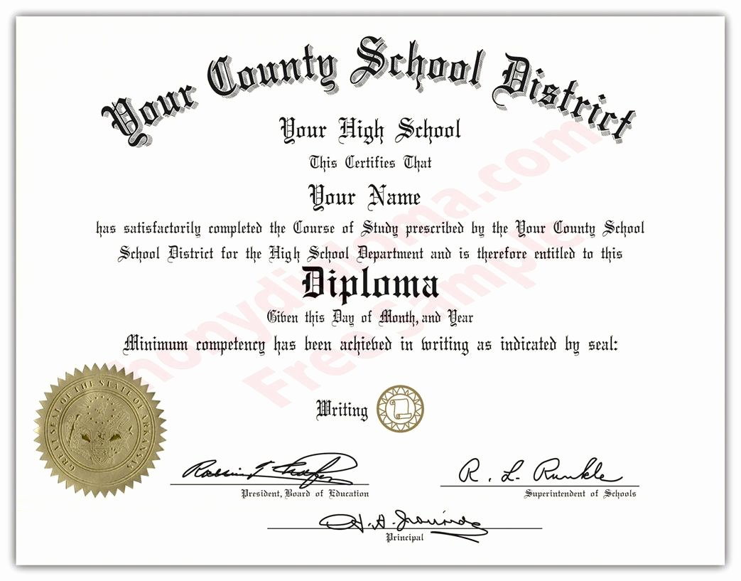 Printable High School Diploma Luxury Fake Diplomas and Transcripts From Arkansas Phonydiploma