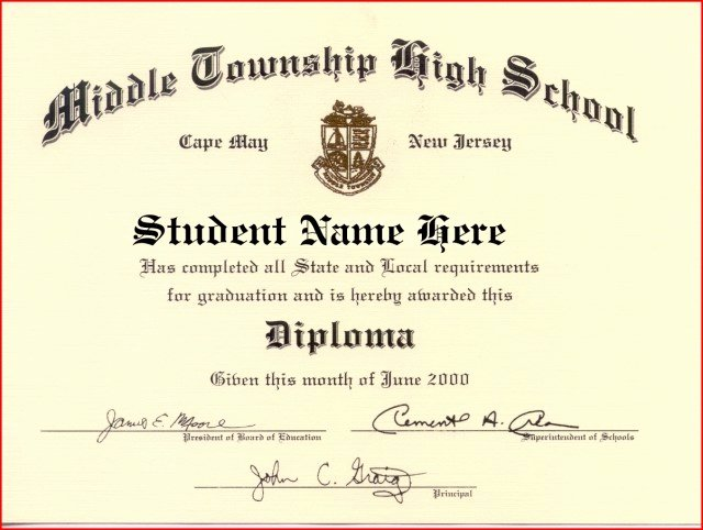 Printable High School Diploma New 25 High School Diploma Template 2019 Free Doc