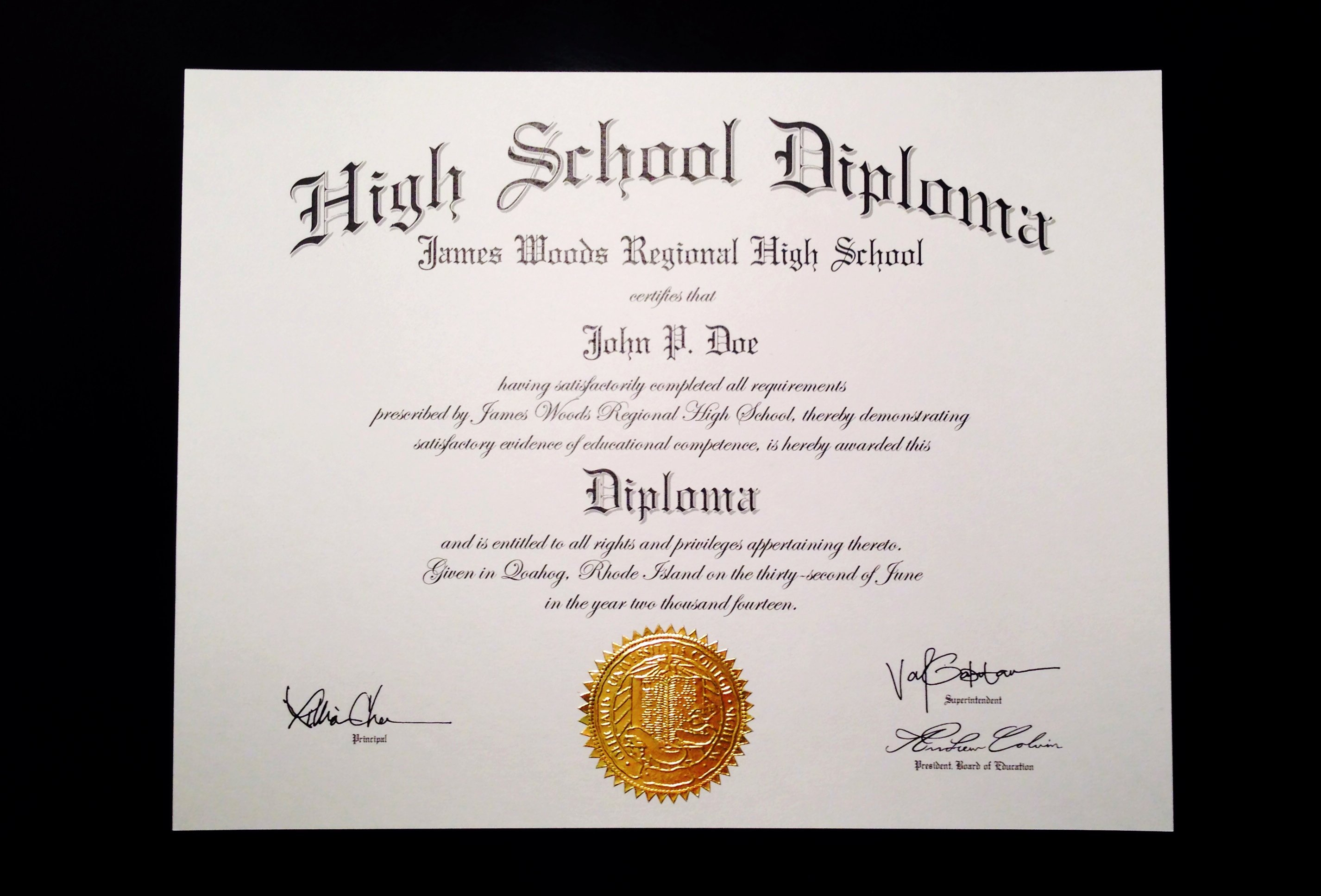 create high school diploma 1534