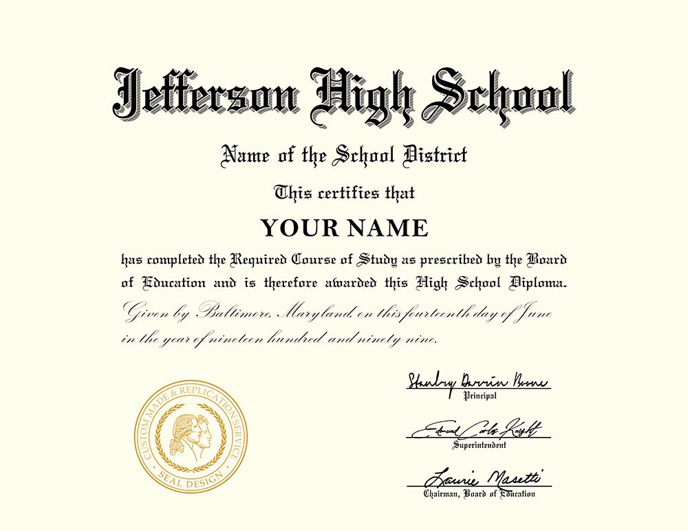 Printable High School Diploma New Us High School Diploma Style 1