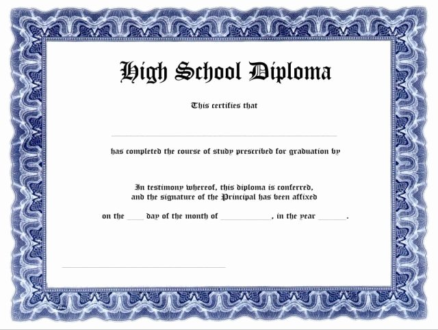 Printable High School Diploma Unique 35 High School Diploma Template Download Free