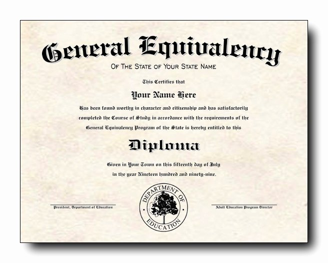 Printable High School Diploma Unique are People with Ged S More Like High School Graduates or