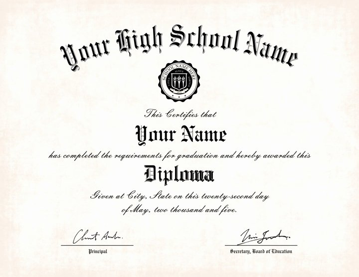 Printable High School Diploma Unique Free Printable High School Diploma Templates