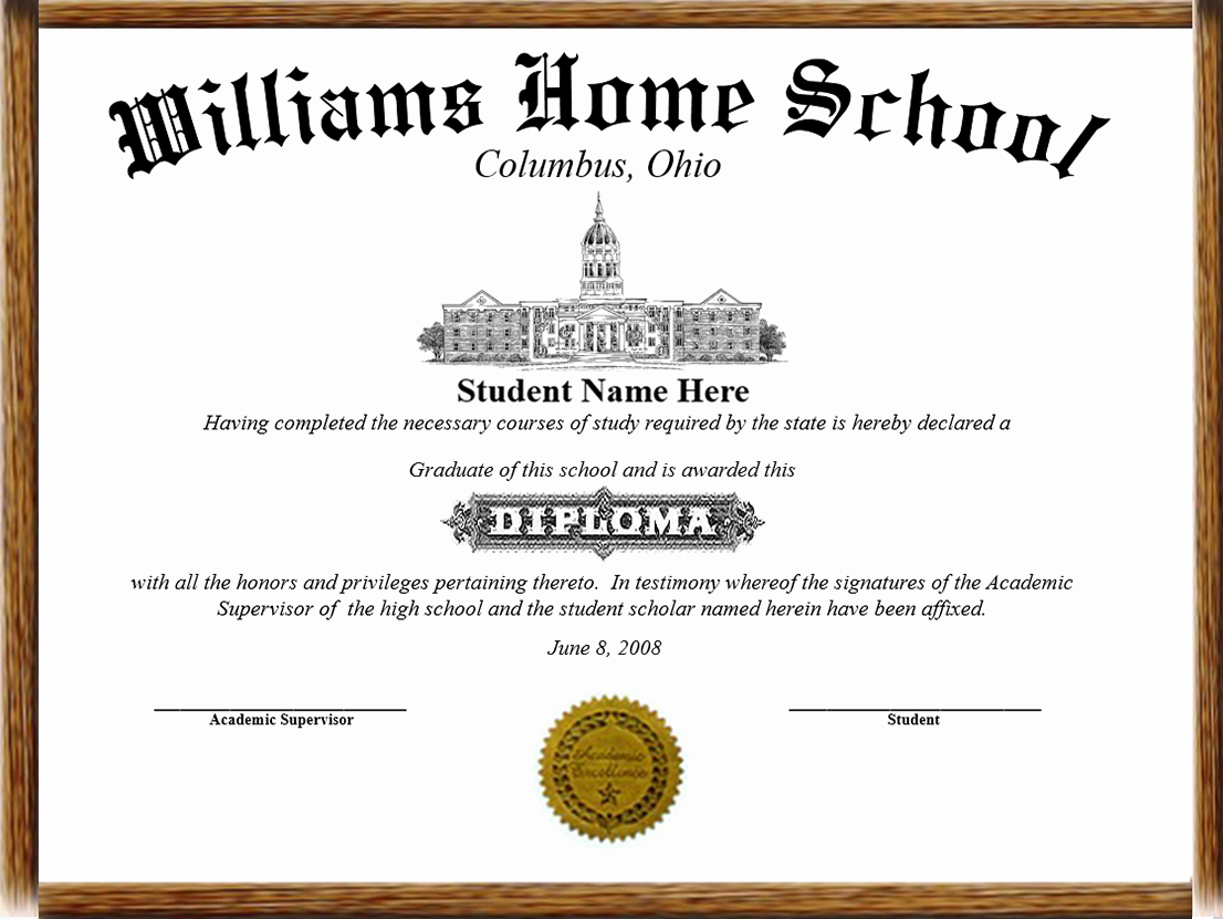 Printable High School Diploma Unique High School Diploma Template