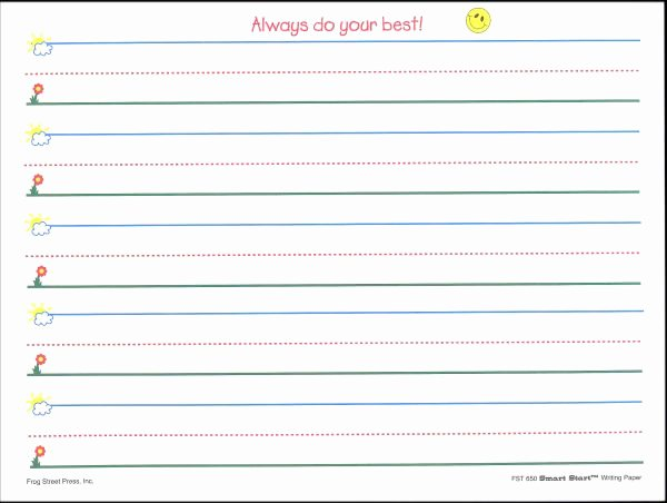 Printable Kindergarten Writing Paper Best Of Best S Of Pre K Writing Paper Lined Printable