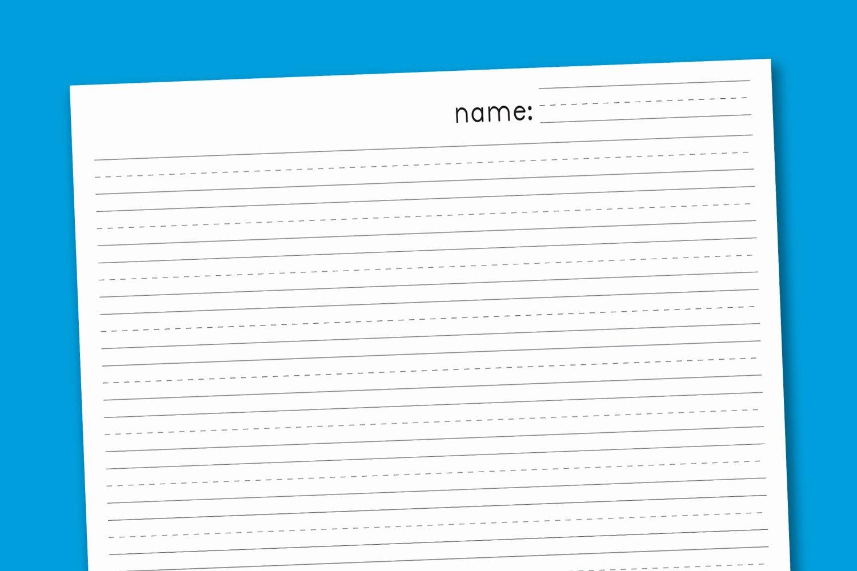 Printable Kindergarten Writing Paper Fresh Primary Handwriting Paper Paging Supermom
