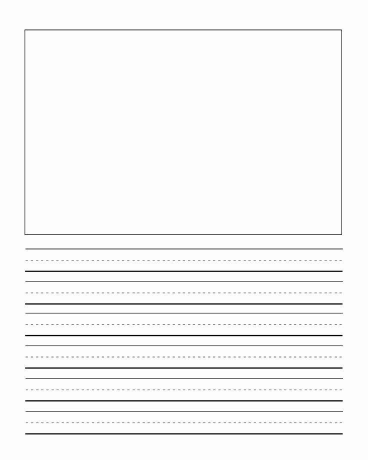 Printable Kindergarten Writing Paper Lovely First Grade Writng Paper Template with Picture