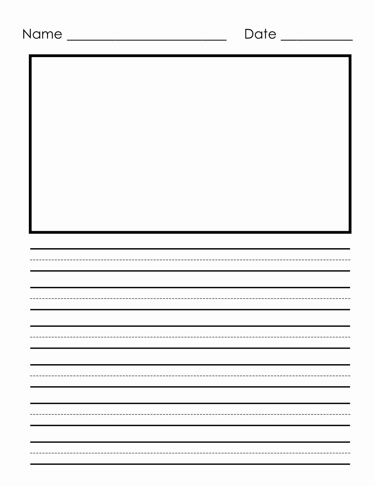 Printable Kindergarten Writing Paper Unique Writing Paper Printable for Children