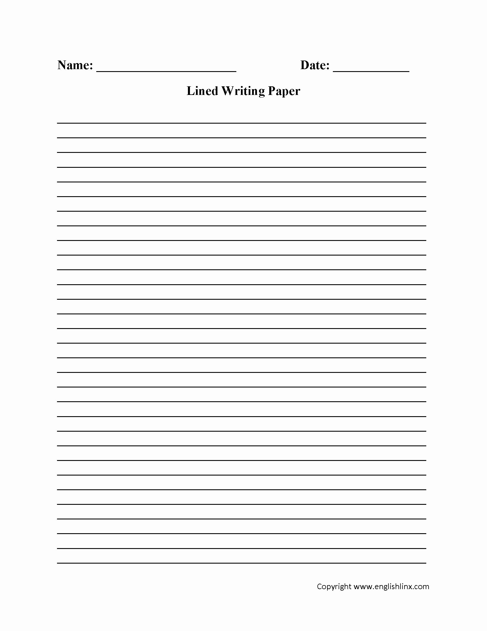 Printable Lined Paper Pdf Awesome Free Printable Lined Paper for Kids Writing