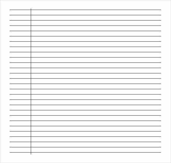 Printable Lined Paper Pdf Fresh Free 9 Sample College Ruled Paper Templates In Pdf