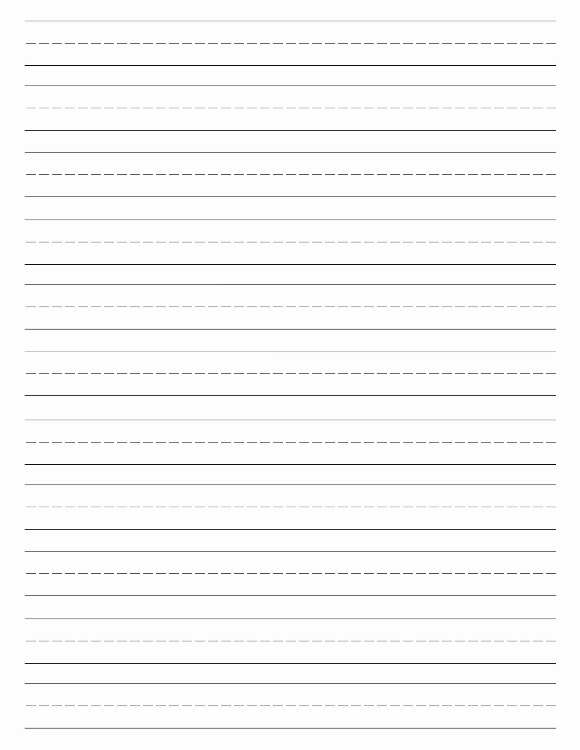 Printable Lined Paper Pdf Luxury Free Printable Lined Paper Handwriting Paper Template