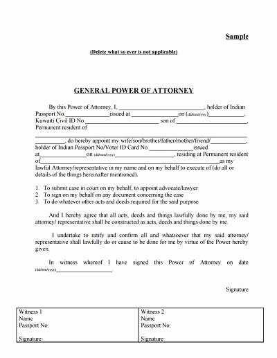 Printable Power Of attorney Best Of General Power Of attorney form Download Edit Fill