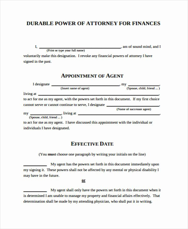 Printable Power Of attorney Inspirational Power Of attorney form Template