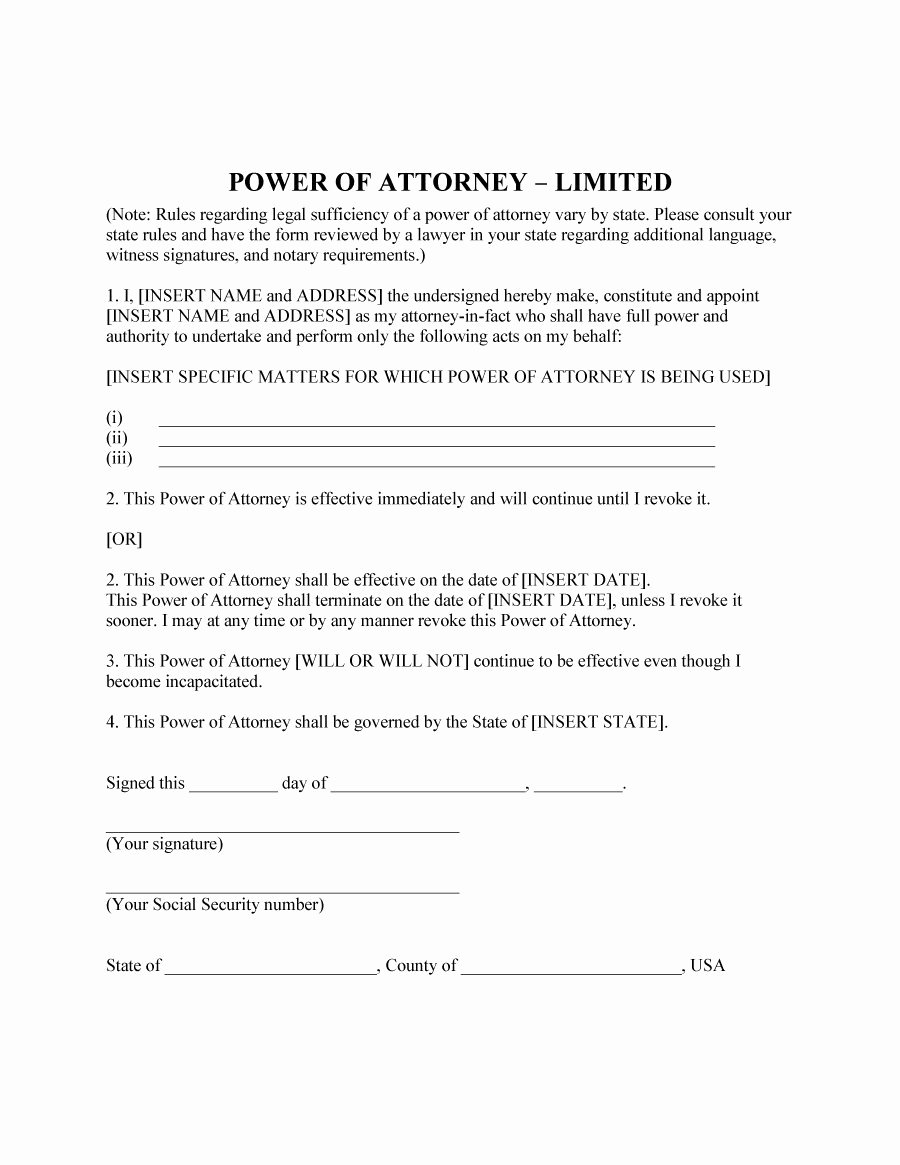 Printable Power Of attorney Luxury 50 Free Power Of attorney forms & Templates Durable Medical