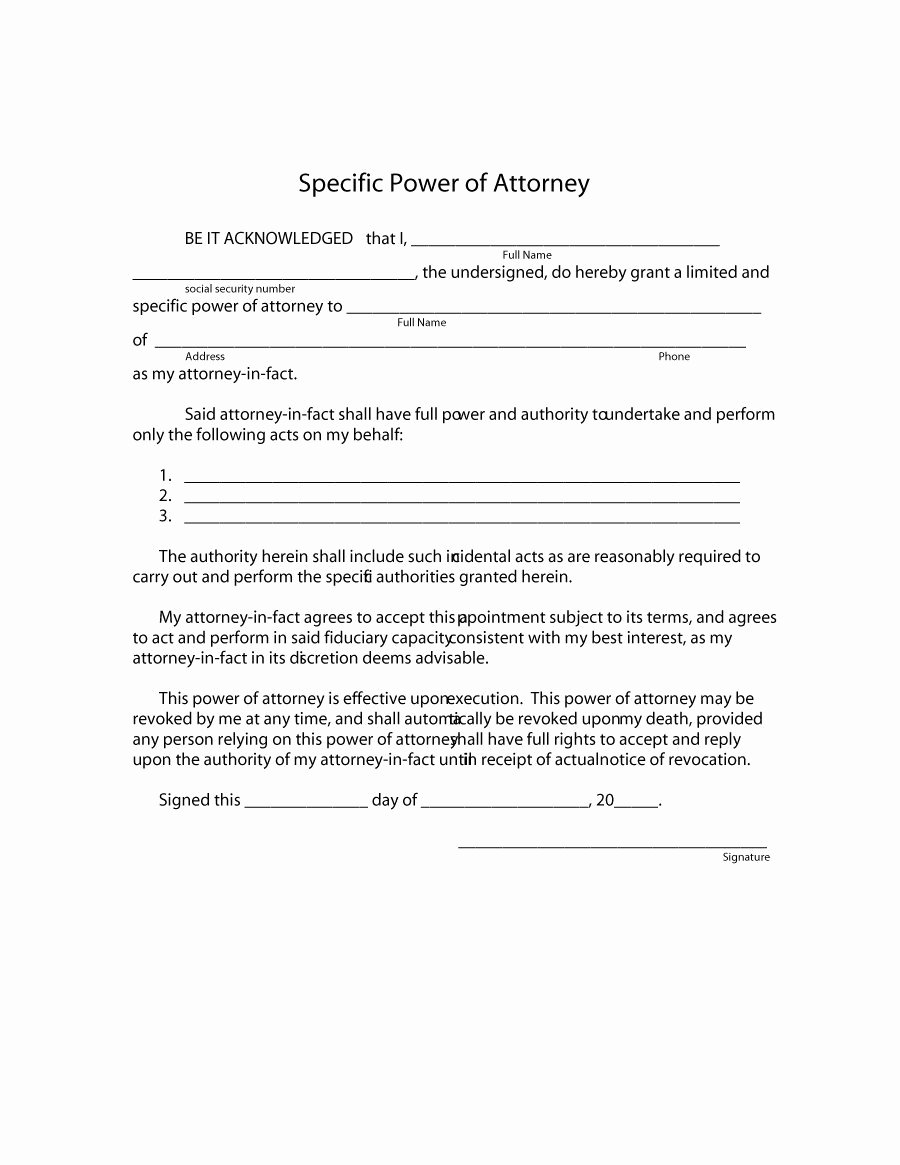 Printable Power Of attorney New 50 Free Power Of attorney forms & Templates Durable