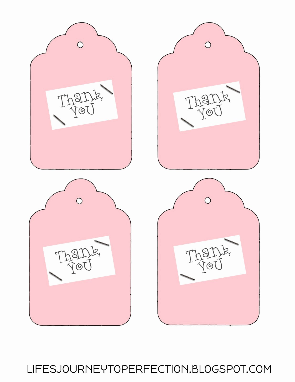 Printable Thank You Tags Awesome Life S Journey to Perfection Thank You Gift Idea and Free