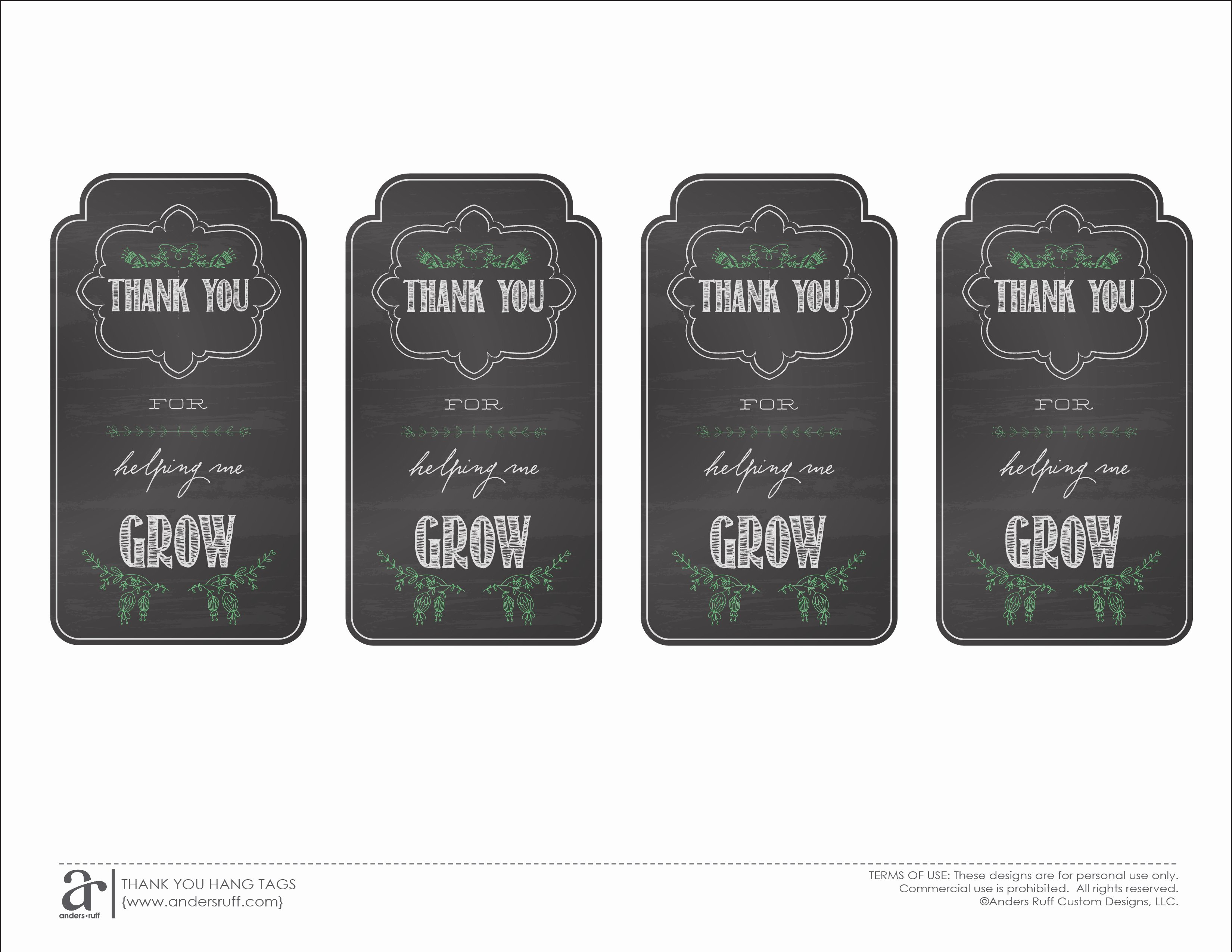 Printable Thank You Tags Awesome Ruff Draft End Of the Year Teacher Gift and Free
