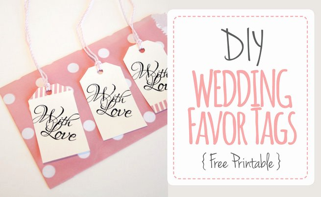 "Printable Thank You Tags Beautiful Wedding Favor Tags ""with Love"" Luggage Tag Printable"