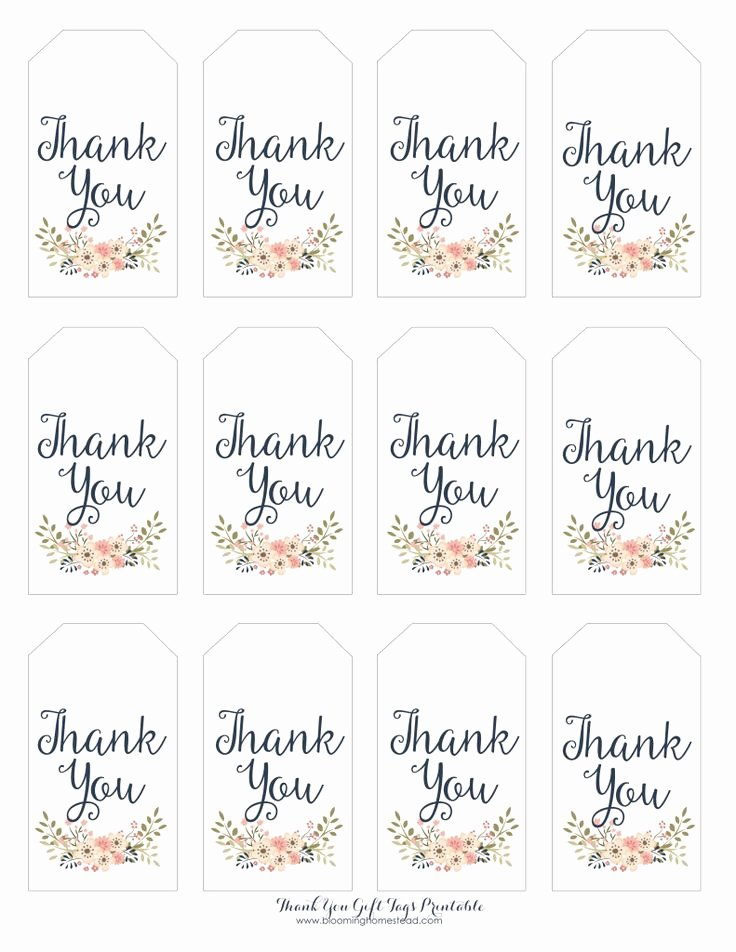 Printable Thank You Tags Elegant Thank You Gift Tags Baby Girl Party Ideas