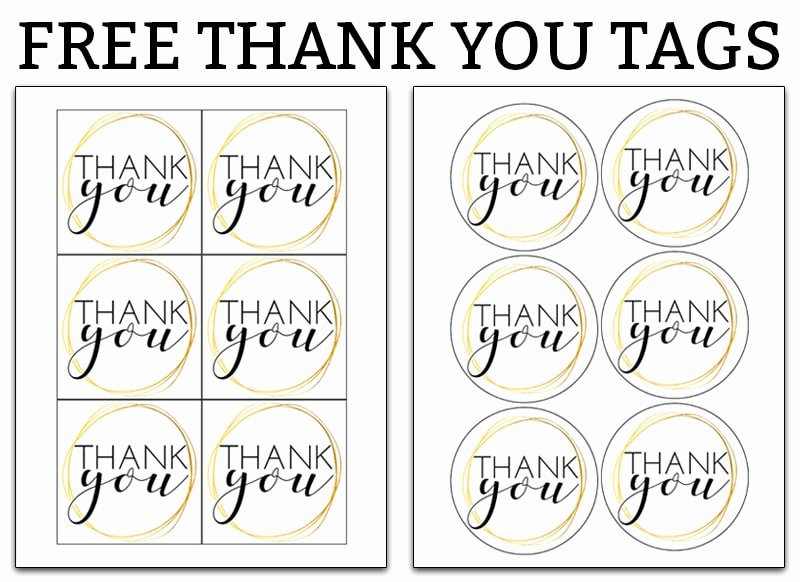 Printable Thank You Tags Fresh Printable Thank You Tags