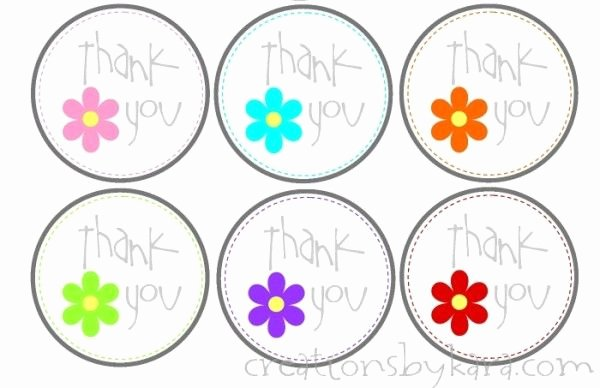 Printable Thank You Tags Inspirational Creations by Kara Free Printable Thank You Tags