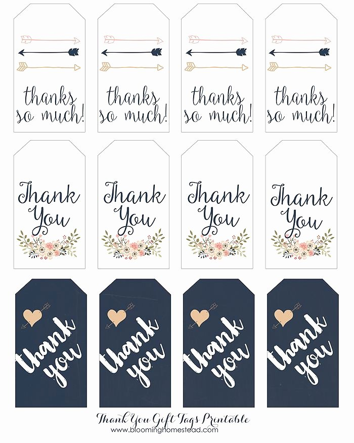 Printable Thank You Tags Lovely Thank You Gift Tags Wedding Favors