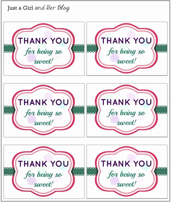 Printable Thank You Tags New A Sweet and Simple Thank You Gift with Free Printable
