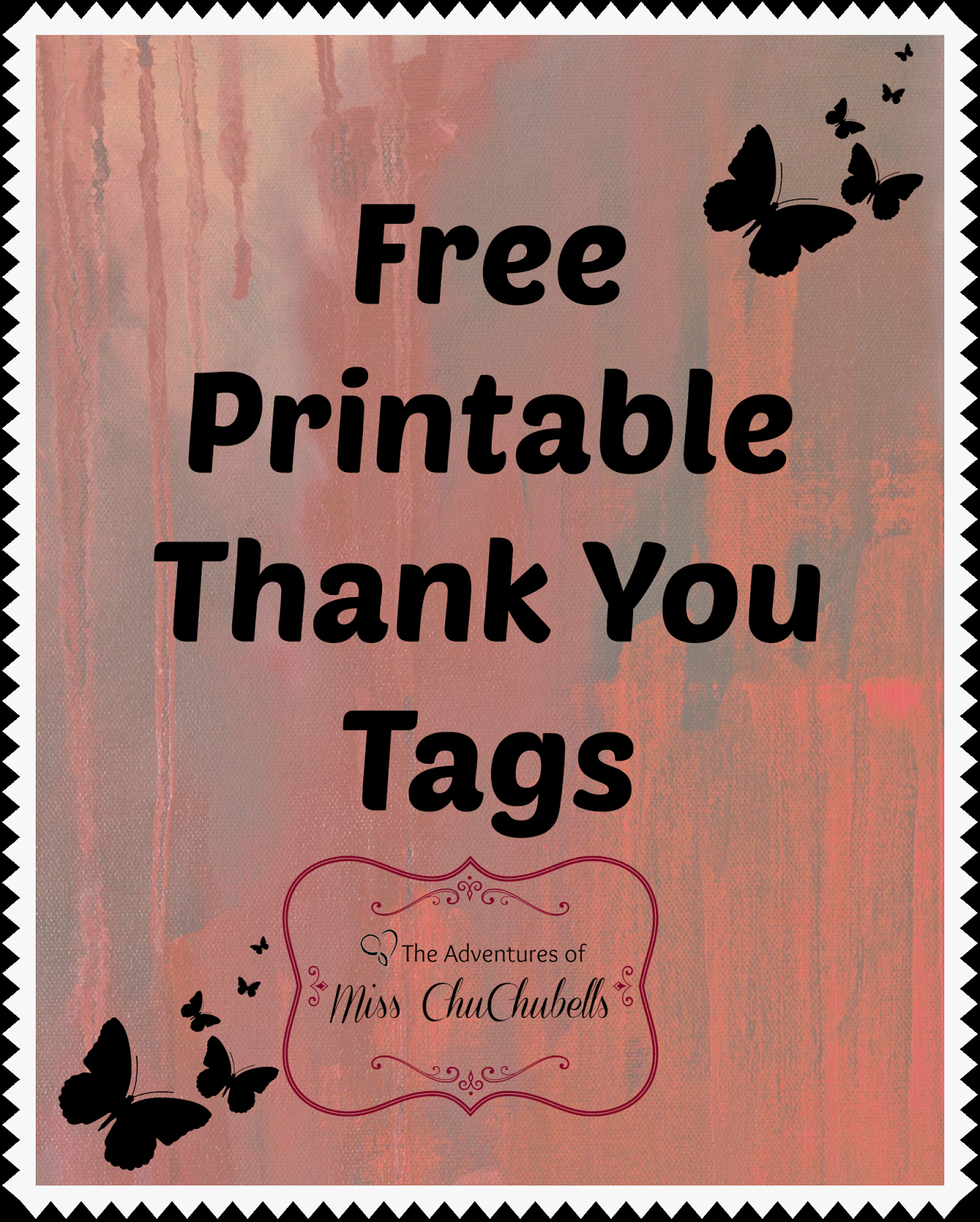 Printable Thank You Tags New the Adventures Of Miss Chuchubells Diy Projects Free