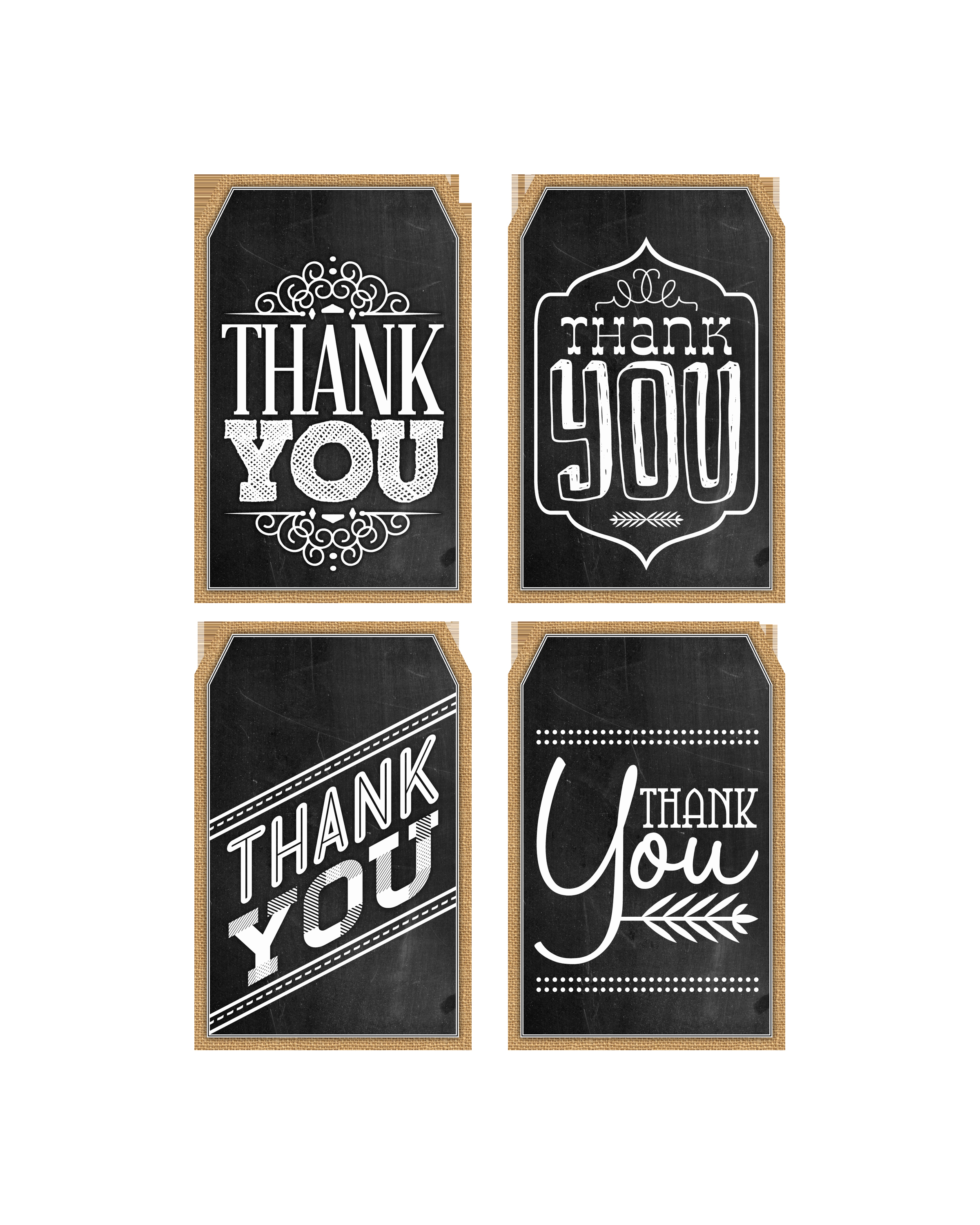 Printable Thank You Tags Unique Free Printable Thank You Chalkboard Tags & A Happy