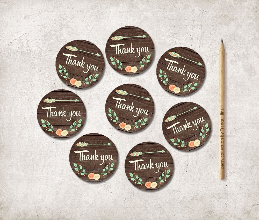 Printable Thank You Tags Unique Printable Thank You Tags Rustic Favor Tags Printable Wedding