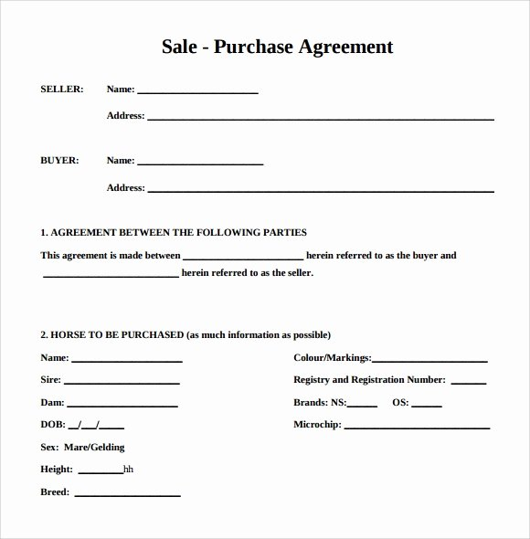 Printable Vehicle Purchase Agreement Elegant Purchase Agreement 15 Download Free Documents In Pdf Word