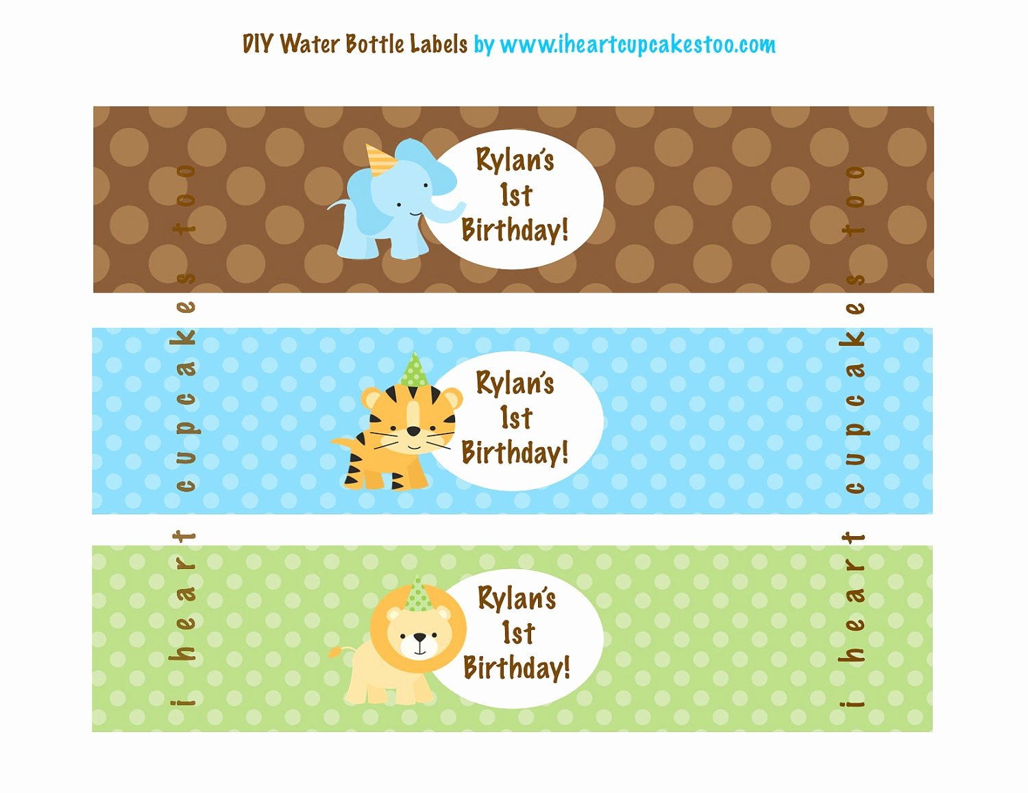 Printable Water Bottle Labels Awesome Printable Jungle Safari Water Bottle Labels