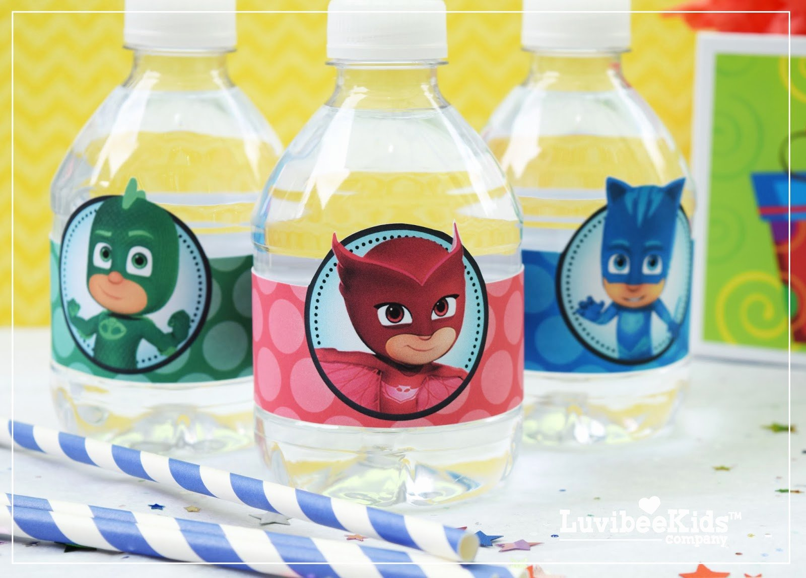 Printable Water Bottle Labels Best Of Pj Masks Water Bottle Labels Free Printable