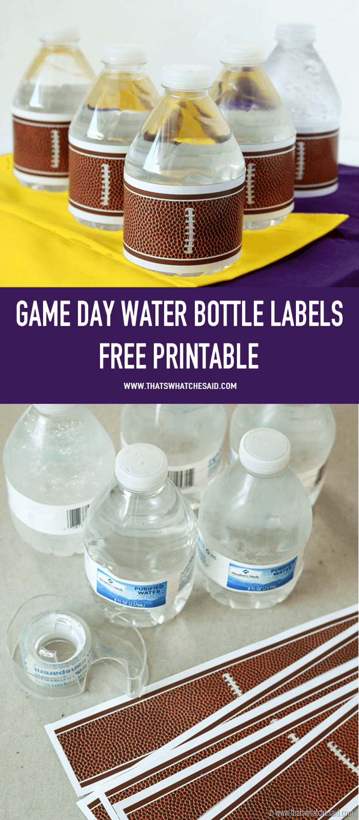 Printable Water Bottle Labels Elegant Football Water Bottle Labels that S What Che Said