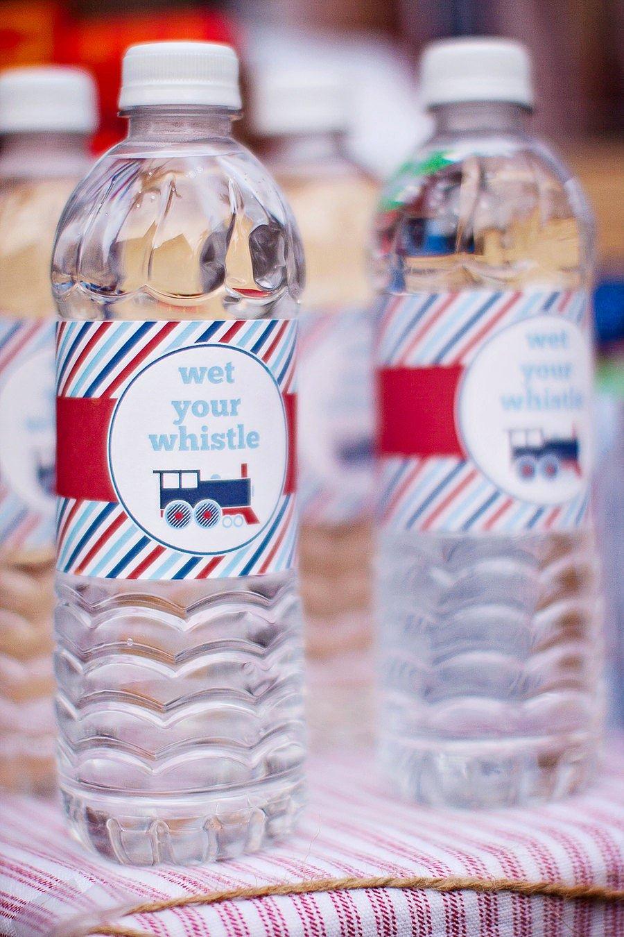 Printable Water Bottle Labels Inspirational Train Water Bottle Labels Printable