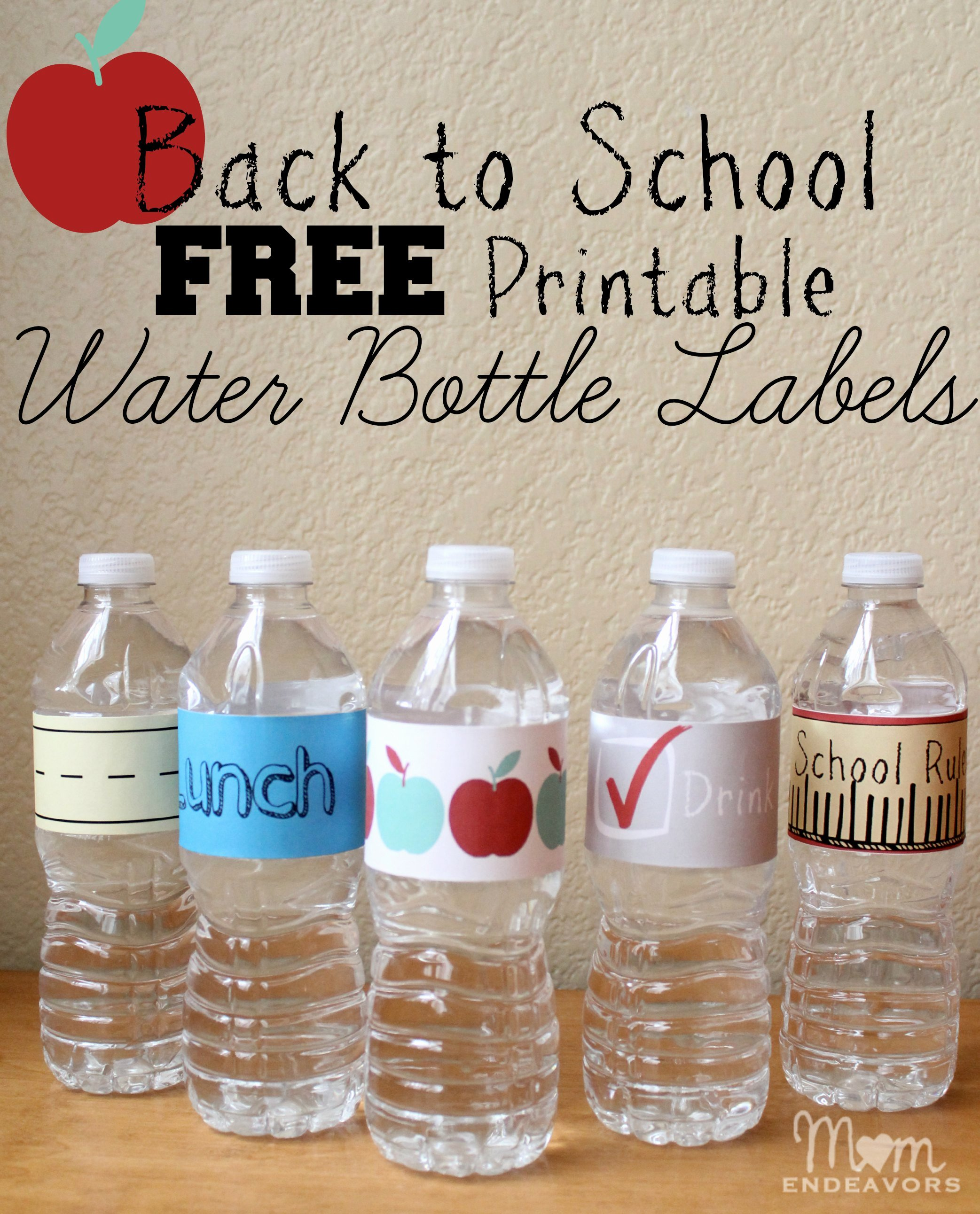 Printable Water Bottle Labels Luxury Convenient & Fun Drinks for Back to School Lunches with