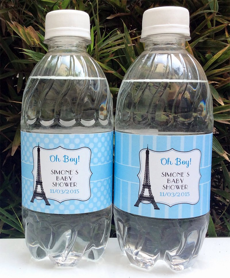 Printable Water Bottle Labels Luxury Paris Baby Shower theme Printables