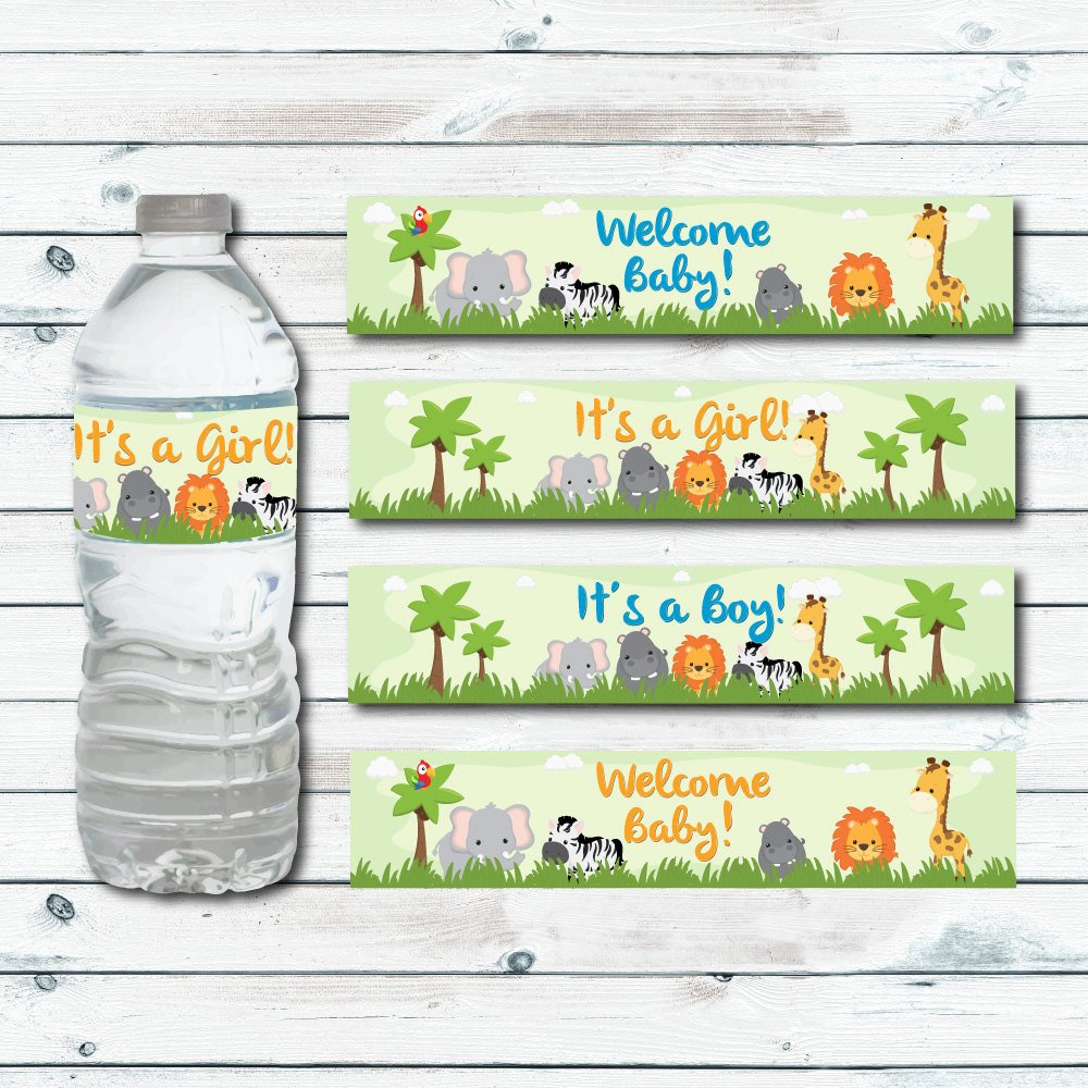 Printable Water Bottle Labels Luxury Safari Water Bottle Labels Printable Jungle Baby Shower Water