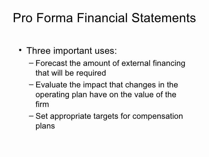 Pro forma Income Statement Example Lovely Pro forma Financial Statements Three Important Uses