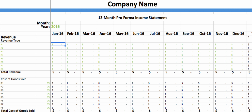Pro forma Income Statement Example Lovely Pro forma In E Statement Template – Dumbing It Down