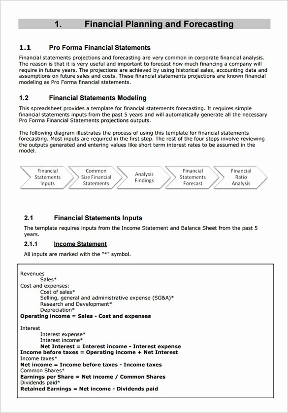 Pro forma Income Statement Example Lovely Sample Proforma In E Statement 9 Documents In Pdf Word