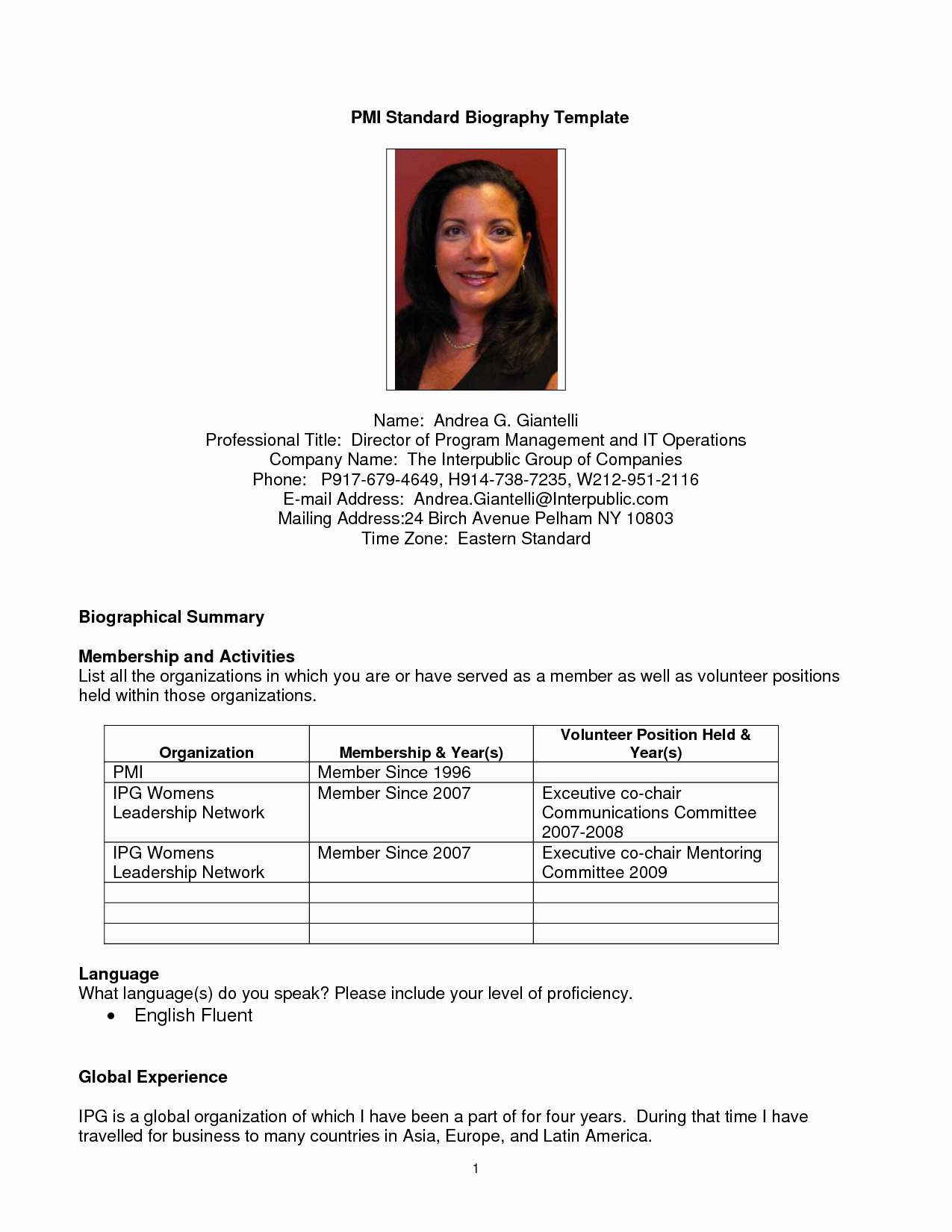 Professional Bio Template Word Best Of Professional Bio Template