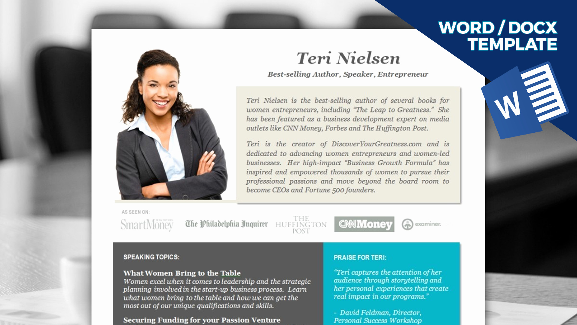 Professional Bio Template Word Lovely Speaker E Sheet Template Instant Download Ms Word