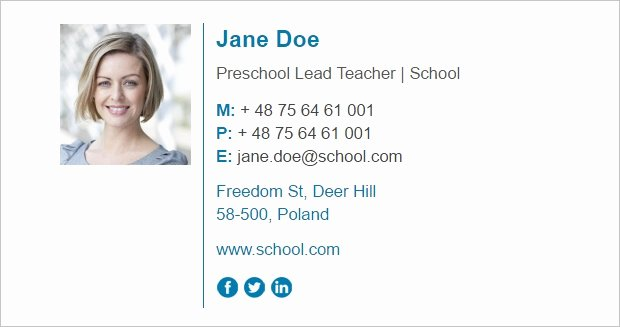 Professional Email Signature Student Unique Email Signature for Teachers Tips On How to Design A